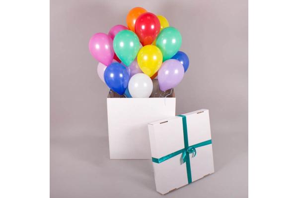 Коробка для шаров с лентой-бантом