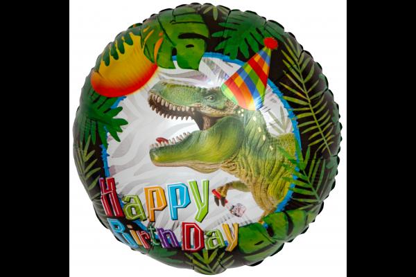Шар круг Динозавр с Днем Рождения