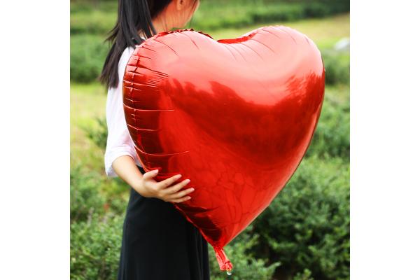 Большое красное сердце