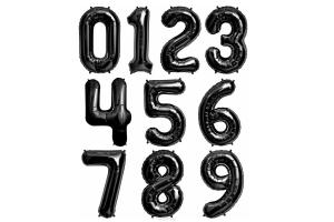 Шар цифра черная с грузиком