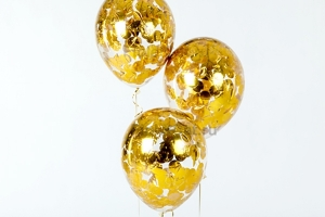 Шары золотое круглое конфетти