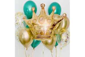 """Композиция из шаров """"Золотая корона"""""""