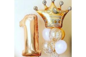 """Сет  из шаров """"Золотая Корона"""""""