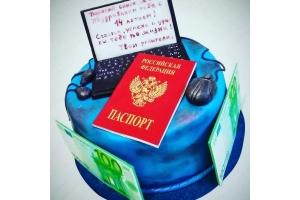 Торт с Паспортом