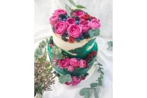 """Свадебный торт """"Цветочный рай"""""""