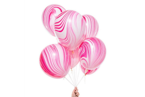 Розовые шары агаты