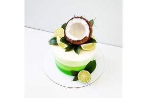 Салатовый торт