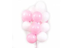 Шары розовые с белыми