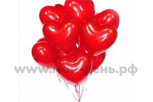 Красные латексные сердца