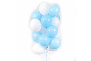 шары голубые с белыми