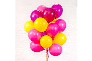 Розово- желтый сет из шаров