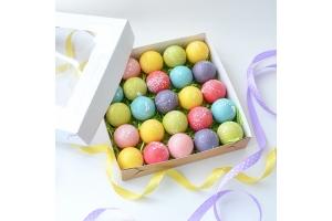 Набор шоколадных шаров с  пожеланием  внутри